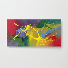 Uprising - Abstract painting Metal Print