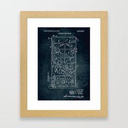 1972 - Pinball machine Framed Art Print