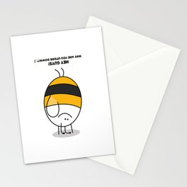BumbleBee Handstand Stationery Cards
