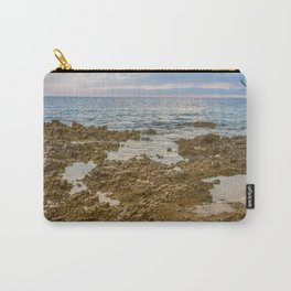 Scenic view of beautiful sunset above the Adriatic sea, Croatia Carry-All Pouch