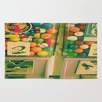 gumball Area & Throw Rugs featuring goody goody gumball! by helene smith photography