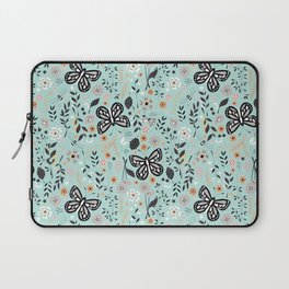 Flowers and butterflies pattern 002 Laptop Sleeve