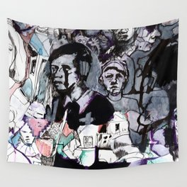 The Purple Mercury People Wall Tapestry