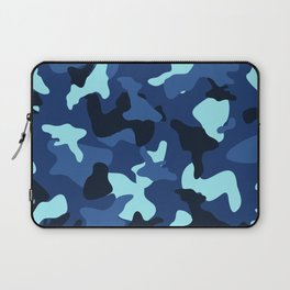 Blue marine army camo camouflage pattern Laptop Sleeve