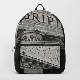 The Pantheon black and white Backpack