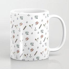 Anchor and Love Pattern. Coffee Mug