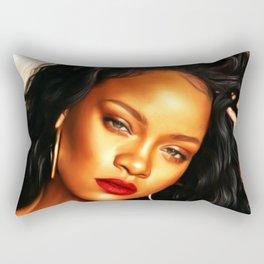 Rihanna - Celebrity (Dark Painting) Rectangular Pillow