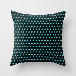 Blue Cherries Throw Pillow