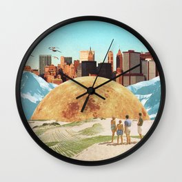 Vanished Worlds Wall Clock