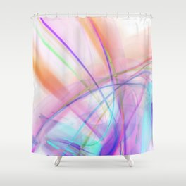 Atmospheric - Colorful Abstract Art Shower Curtain