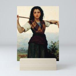 "William-Adolphe Bouguereau ""The Little Shepherdess"" Mini Art Print"