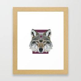 Geo Gem Wolf Framed Art Print