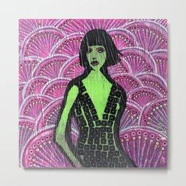 """""""Socked in Violet"""" by Herta Metal Print"""