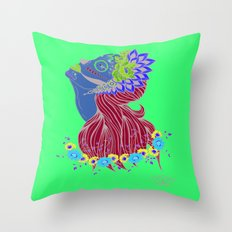 Lady of Death Throw Pillow