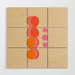 Uende Sixties - Geometric and bold retro shapes Wood Wall Art