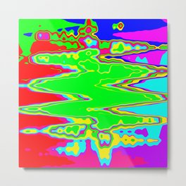 Psychedelic Slick Metal Print