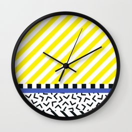 Memphis pattern 85 Wall Clock