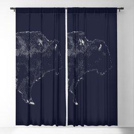 Buffalo Line Art Blackout Curtain