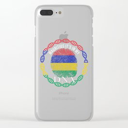 Mauritius Its In My DNA Clear iPhone Case