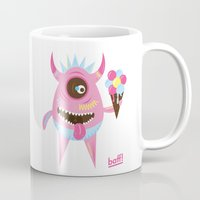 icecream Mugs featuring Icecream by baffdesign