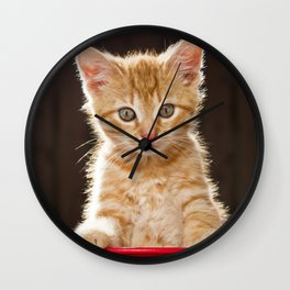 Play Time Kitten  Wall Clock