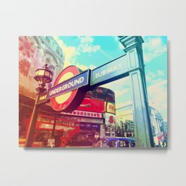 Piccadilly Underground Metal Print