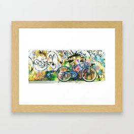 blue bike series 1.0 Framed Art Print