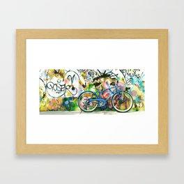 blue bike series 1.0 Framed Art Print