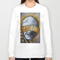 justice Long Sleeve T-shirts featuring Justice by Tatstom48