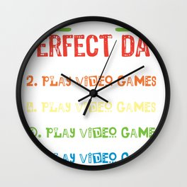 Play Video Games Day Wall Clock