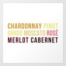 Wine Typography Spectrum Art Print