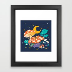 Goodnight Plume Framed Art Print