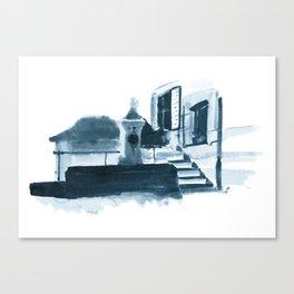 Swiss Fountain Canvas Print