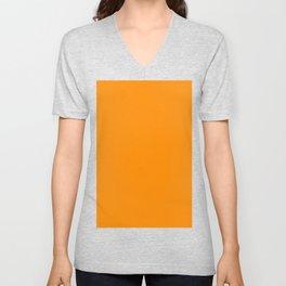 Dark Orange Unisex V-Neck
