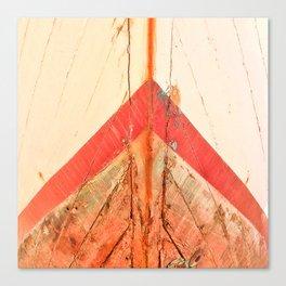 Orange Boat Hull Wooden Boats Fishing Fisherman Seafood Painted Wood Vintage Weathered Nautical Beac Canvas Print