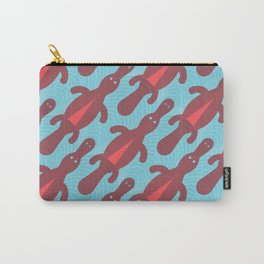 Platypus Convention - blue and coral Carry-All Pouch