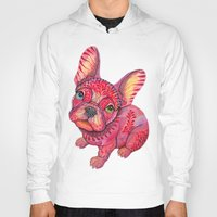 frenchie Hoodies featuring Raspberry frenchie by Ola Liola