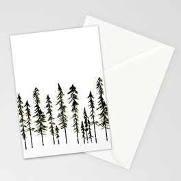 Northwoods Winter Forest Stationery Cards