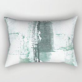 Gray green stained watercolor texture Rectangular Pillow
