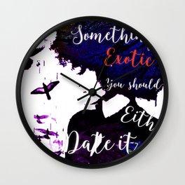 Something Exotic Wall Clock