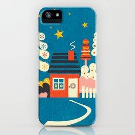 Festive Winter Hut iPhone Case