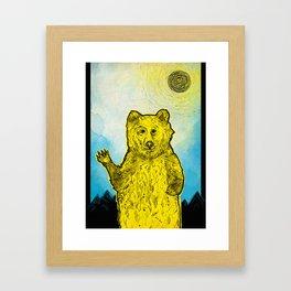 Original Bear Illustration Framed Art Print