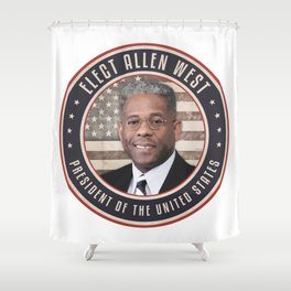 Elect Allen West Shower Curtain