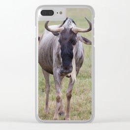 Wild Wildebeest Clear iPhone Case