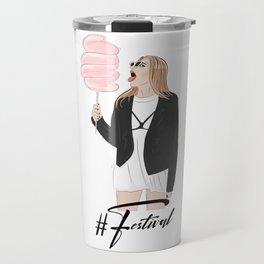Festival girl cotton candy Travel Mug