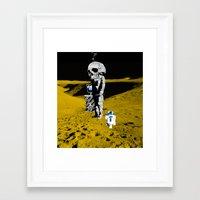 walk the moon Framed Art Prints featuring Moon Walk by Marko Köppe