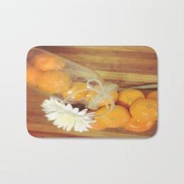 Clementines From Above Bath Mat