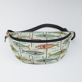 Vintage Color Block Fish Fanny Pack