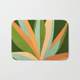 Colorful Agave / Painted Cactus Illustration Bath Mat