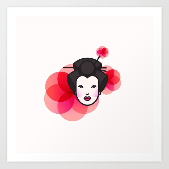 Geisha Icon Art Print